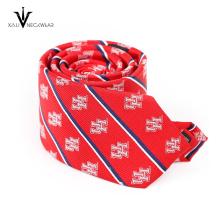 Gravata impressa de seda 100% personalizada do laço gravata impressa