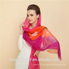 2015 100% Polyester Chiffon Hijab Kopftuch muslimischen Kopf Schal