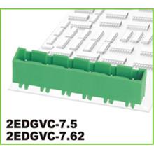 Bornier de connecteur enfichable vert de pas de 3,81 mm