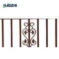 fabricación decorativa del diseño del patio del panel de la cerca de aluminio
