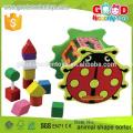 Китай Handmade высшего качества и дешевый сортировщик формы, разноцветная игрушка из твердого дерева