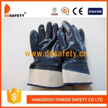 Baumwoll- oder Jersey-Liner Heavy Duty Nitril beschichtete Sicherheitshandschuhe Dcn308