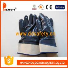 Algodón / Liner de Jersey Guantes de Seguridad con Revestimiento de Nitrilo Pesado-DCN308
