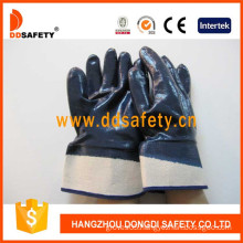 Cotton/Jersey Liner Heavy Duty Nitrile Coated Safety Gloves-DCN308
