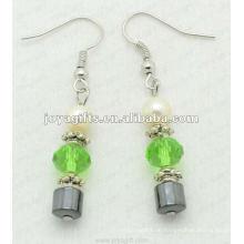 Magnetische Hämatit Glasperlen Ohrringe