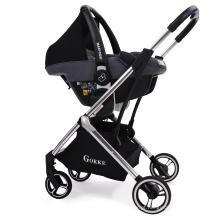 Carrinho de bebê 3 em 1 de paisagem alta multifuncional carrinho de criança dobrável estações com adaptador