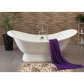 Enamel Double Slipper Cast Iron Bathtub