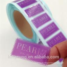 adhesivo transparente de pvc para productos premium con impresión láser