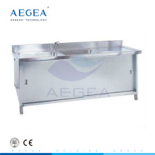 AG-WAS002 CE ISO approved 304 stainless steel dental sink for sale