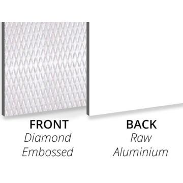 Paneles decorativos en relieve de diamantes texturizados de 3 mm