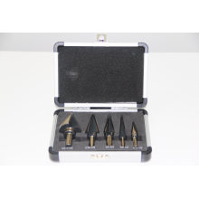 Step Drill Bit Set with Aluminum Case