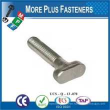Made in Taiwan Custom Made T Bolts Hammer Head Carbon Steel Stainless Steel Brass Material