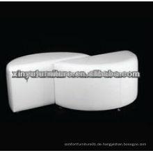 Weiße Farbe Schwan halbe runde Ottomane XW1022
