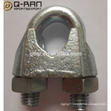 Les Clips de câbles d'acier fonte malléable DIN 741