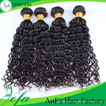 Extensión profunda brasileña natural del pelo humano de la Virgen del pelo de Remy de la onda profunda