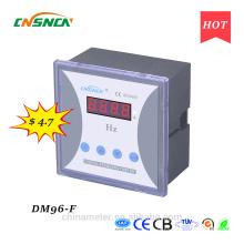 DM96-F 96 * 96mm preço competitivo display LED medidor de freqüência digital monofásico, medida freqüência CA