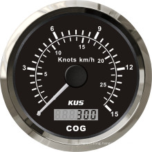 85mm GPS Speedometer 15L with Backlight Black Faceplate