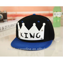 New Design Custom Plastic Acrylic Crown Color-matching Snapback Caps Dongguan Factory