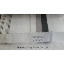 Nouveau tissu de rideau transparent Organza Voile de rayures de projet populaire 0082133