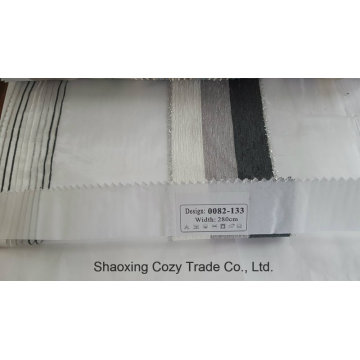 New Popular Project Stripe Organza Voile Sheer Curtain Fabric 0082133