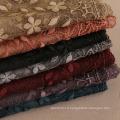 Top qualité premium 200 * 95 broderie florale dentelle musulmane coton hijab écharpe pour les femmes