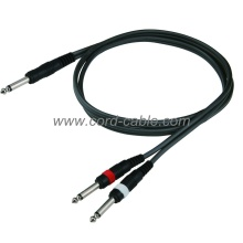 DR Series Mono Jack to Dual Mono Jack Cable