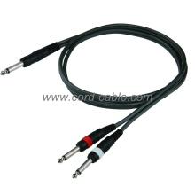 DR Series Mono Jack to Dual Mono Jack Cable