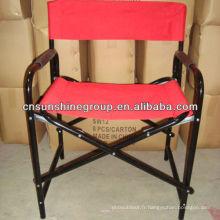 Chaise pliante portable de directeur avec table d'appoint
