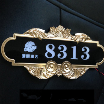 3D-graverade akryl LED Hotel Room Numbers