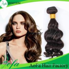Extension de cheveux humains de cheveux de Vierge de vague de corps indien de qualité supérieure de la catégorie 7A / 8A