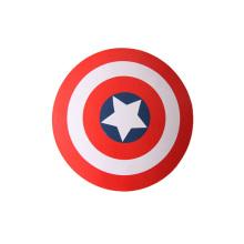 brinquedo de madeira barato rodada capitão américa escudo
