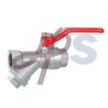 Válvula de bola de latón forjado con filtro
