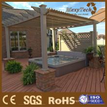 Pérgola de jardín de madera compuesta con bajo requerimiento de MOQ.