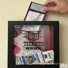 3D deep shadow box  frame for ticket