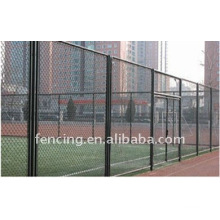 Chain link fence for football playground