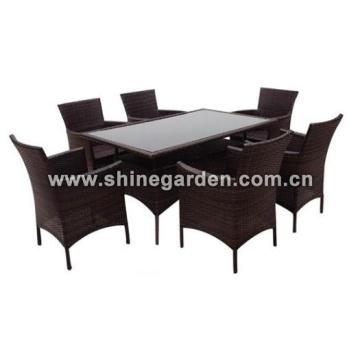 Outdoor Wicker Furniture 7 Piece dining Set