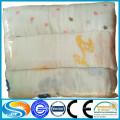 Handfeel macio algodão 100% impresso tecido de musselina, tecido de musselina bebê para fraldas e fraldas
