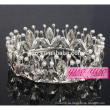 Coronas de la tiara del día de fiesta del desfile de la aleación del rhinestone del traje