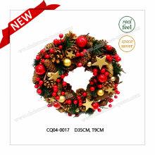 Dia. 35cm Nouvellement décoré maison Décoration Couronne de fleurs de Noël Plastique Décoration extérieure