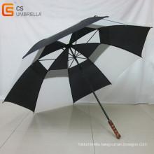 Wooden Handle Golf Umbrella with Air-Vent