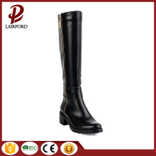 zipper closure calf elegant women leather boots