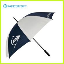 68.5cm 8k White and Navy Straight Golf Square Umbrellas