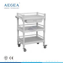 AG-UTB09 ABS Material Krankenhaus Kunststoffwagen mit Seitengriff
