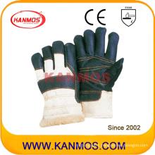 Dark Furniture Leather Winter Industrial Safety Work Gloves (31302)