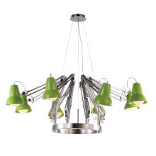 Modern Nickel Body Designer Pendant Lighting with Green Shade (MD6138-8G)