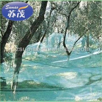 Filets de collecte d'olive pour la collection de fruit, filet d'ombrage de Sun / maille filetant (fabricant), filet d'ombre de HDPE de 100% /
