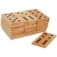 Juego de juguete de madera Domino
