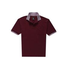 Homens Plain Golf Jacquard Collar Polo