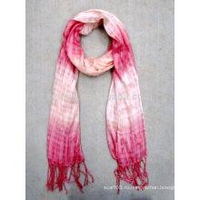Мода дамы 100% вискоза галстук краситель ombre шарф