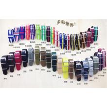 YXL-606 20mm, 22mm bracelet de montre, /Nato coloré Nylon bracelet montre, bracelet de montre Nylon interchangeables